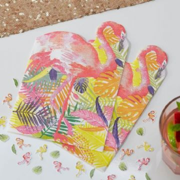 Pink Flamingo Paper Napkins - pack of 20